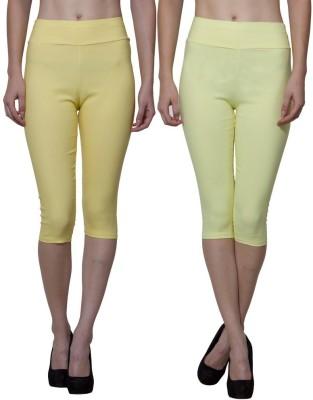 Both11 Women's Yellow, Yellow Capri