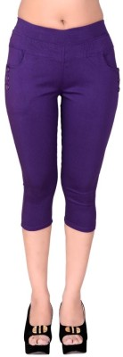 LGC Fashion Womens Purple Capri