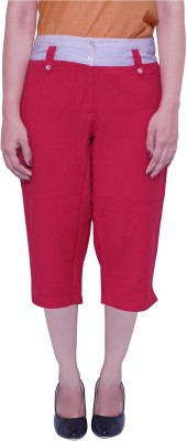 Parv Collections Women's Pink Capri