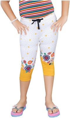 Mint Yellow Cotton Jeggings-16 Baby Girl's Yellow Capri