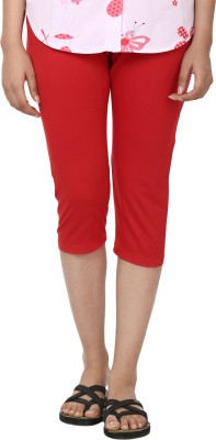 Amanda Solid Women's Red Running Shorts