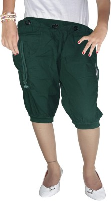 Anjan Women's Dark Green Capri
