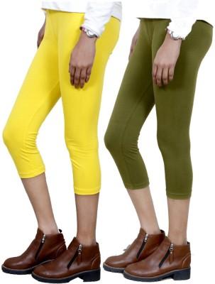 IndiStar Women's Yellow, Green Capri