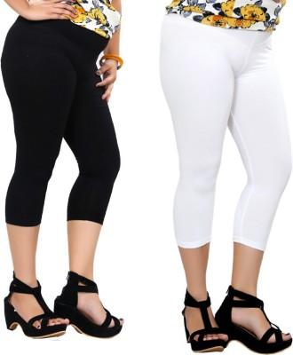 By The Way Fashion Women,s Black, White Capri