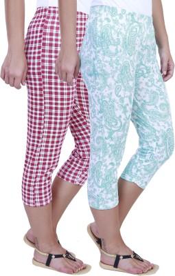 Eshelle Fashion Women,s Pink, White, Green Capri