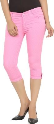 Adhaans Women's Pink Capri