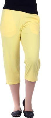 Kally Fashion Women's Reversible Yellow Capri