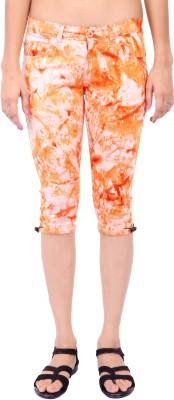 Fashion Cult Colored Women's Orange Capri