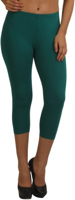Frenchtrendz Women,s Dark Green Capri