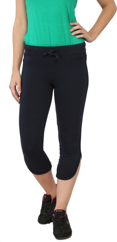 My Secret Comfortable Women's Dark Blue Capri