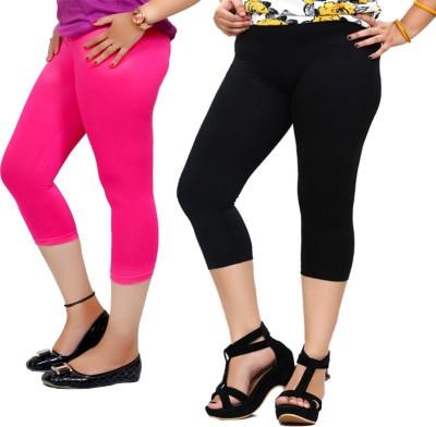 By The Way Fashion Women,s Pink, Black Capri