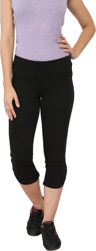 My Secret Comfortable Women's Black Capri
