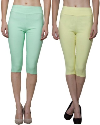 Both11 Women's Yellow, Green Capri