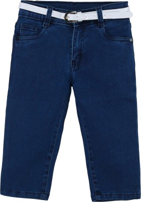 Bat Comfortable Girl,s Dark Blue Capri