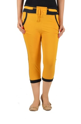 Mijaaz Fashion Women's Yellow Capri