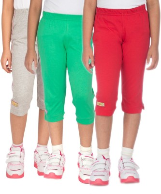 Ocean Race stylish Girl's Grey, Red, Green Capri