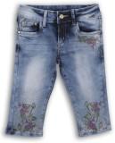 Lilliput Capri For Girls Solid Cotton (B...