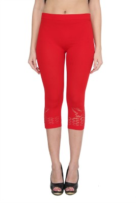 NumBrave Women's Red Capri