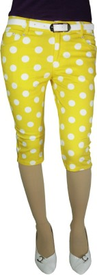 Anjan Fashion Girl's Yellow Capri
