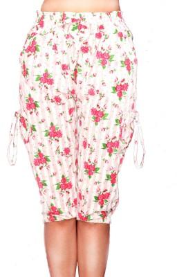 Sai Ruchi Carefree Women's Pink, White, Green Capri