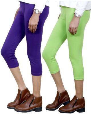 IndiStar Women's Purple, Green Capri