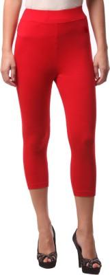 FashionExpo Women's Red Capri
