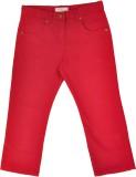 Noqnoq Regular Fit Boys Red Trousers