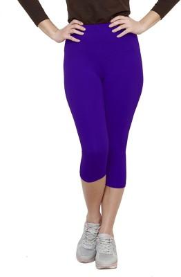 Softrose Women's Purple Capri