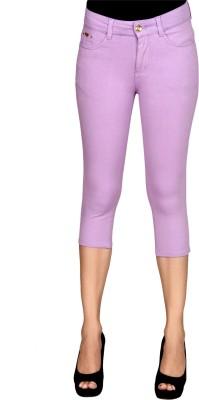 Sheenbottoms Women's Purple Capri