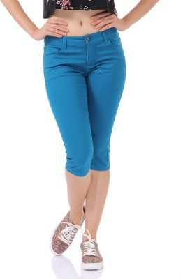 Only Women's Blue Capri at flipkart