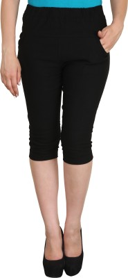 Vestire Women's Black Capri