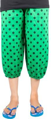 Victory Fashion Women's Green Capri
