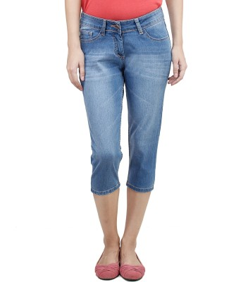 Uber Urban Estela Women's Blue Capri at flipkart