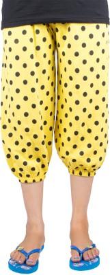 Victory Fashion Women's Yellow Capri