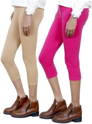 IndiStar Women's Beige, Pink Capri