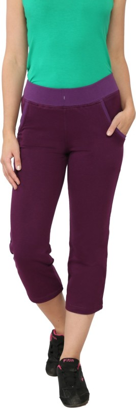 My Secret Comfortable Women's Purple Capri