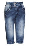 FCK-3 Capri For Girls Solid Denim (Blue)