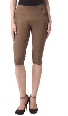 Vostro Moda Women's Brown Capri