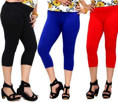 By The Way Fashion Women,s Black, Blue, Red Capri