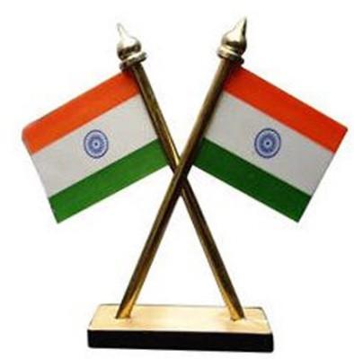 GurujiMart Indian Flag Car Accessory Mount Kit