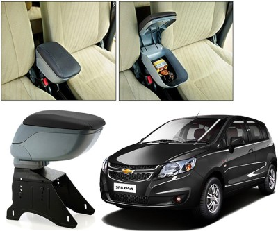 Auto Pearl BARM155 - Chevrolet UVA - Premium Quality Grey Console Box For - Car Armrest Pad Cushion