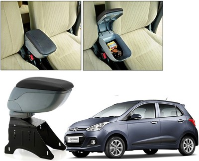 Auto Pearl BARM176 - Hyundai I10 Grand - Premium Quality Grey Console Box For - Car Armrest Pad Cushion