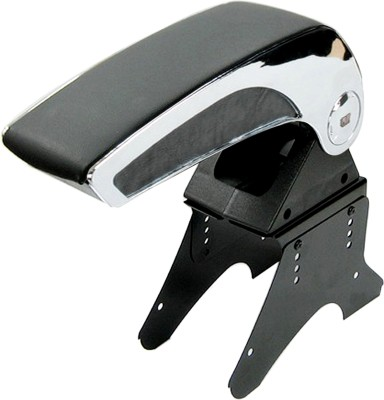 Auto Pearl Premium Quality Black Chrome Car Arm Rest Console - Ford Fiesta Plastic Hand Pad