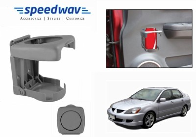 Speedwav Foldable Car Drink or Can Holder-GREY-Mitsubishi Lancer Cedia Car Bottle Holder(Plastic)