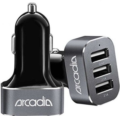 Arcadia-6.6A-Triple-USB-Car-Charger