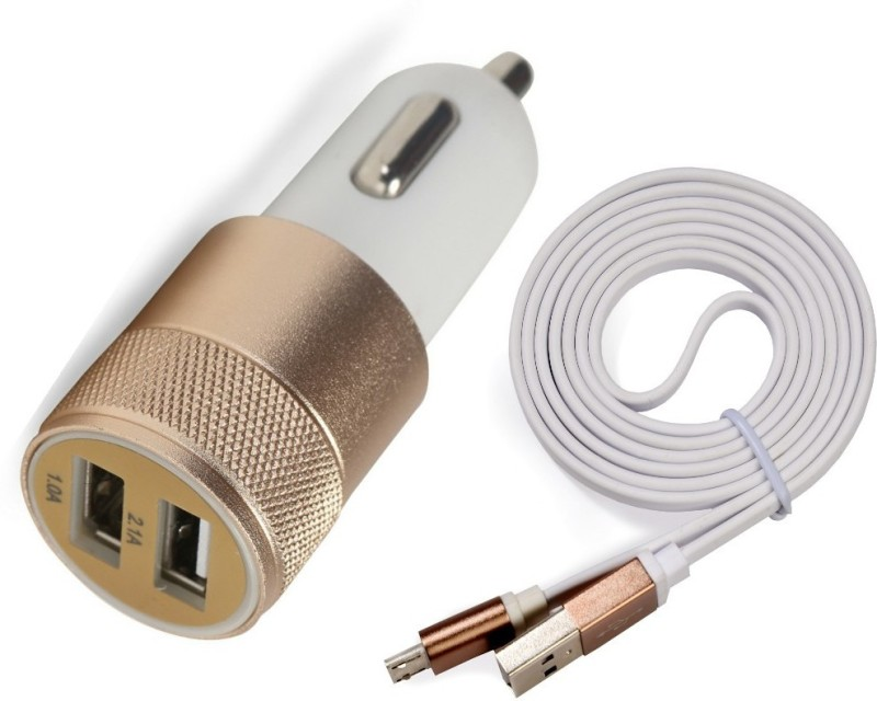 Accucharger 2.1 amp Turbo Car Charger(White)