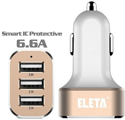 Eleta-6.6A-Triple-USB-Car-Charger
