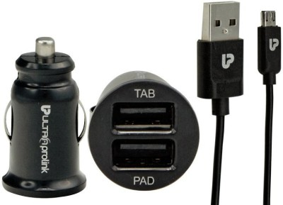 UltraProlink UM0014 Dual USB Car Charger (With Micro USB)
