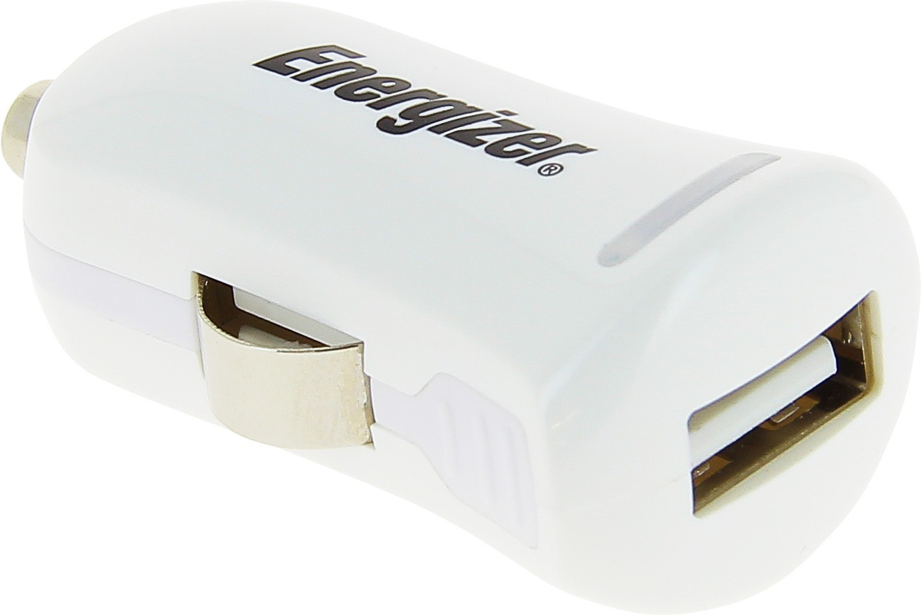 Energizer 2.1 amp Turbo Car Charger(White)