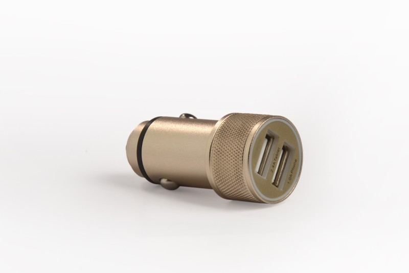 Accucharger 2.4 amp Turbo Car Charger(Gold)
